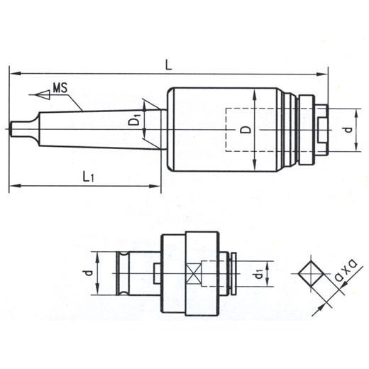 Набор резьбонарезной КМ4 с головками М3-М12