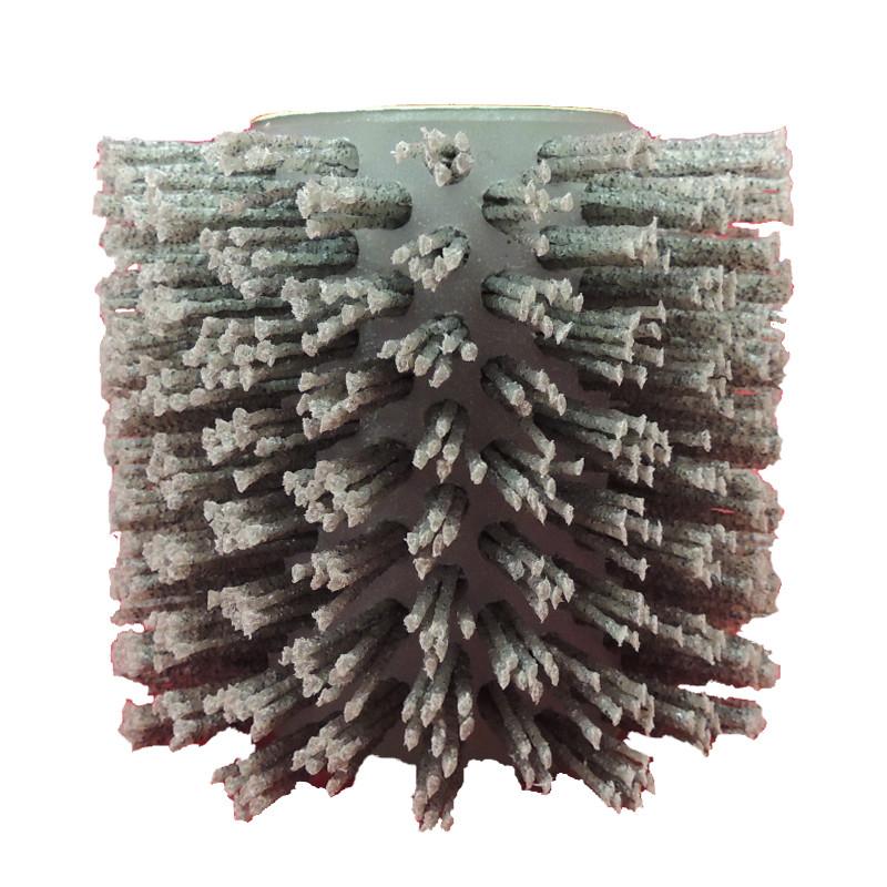 Щетка Д110*100*19+4 паза P80, ворс полимер-абразив