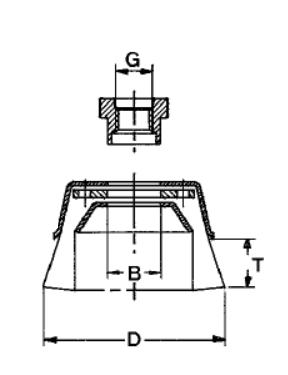 Щетка чашечная Д80*М14, ворс полимер абразив P180