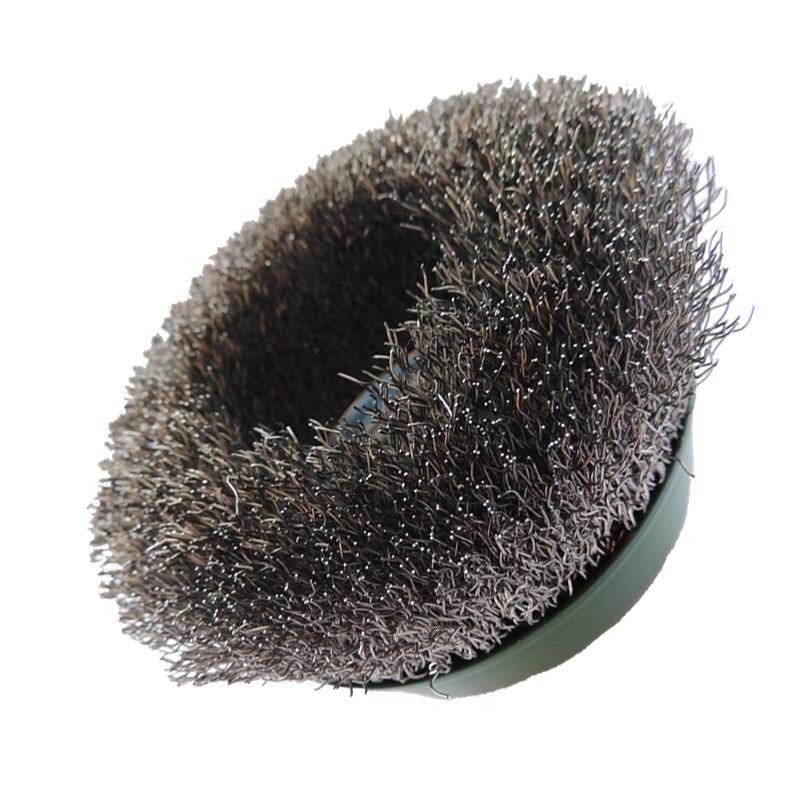 Щетка нержавеющая чашечная 100мм М14 проволока гофрир. 0,3мм