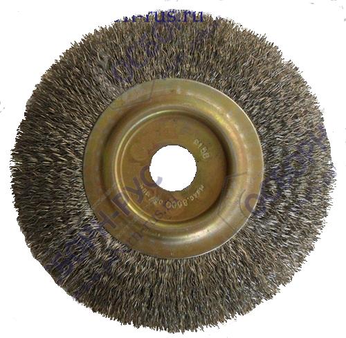 Щетка дисковая Д150*12*22,2, ворс гофр нерж сталь 0,30
