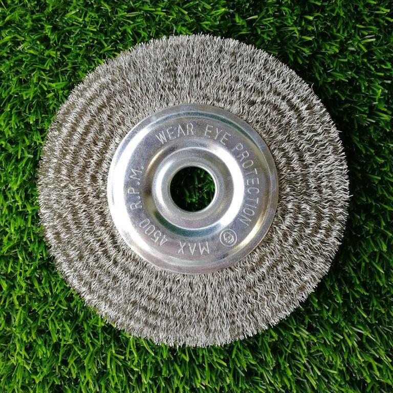 Щетка дисковая Д150*20*22,2, ворс гофр нерж сталь 0,30